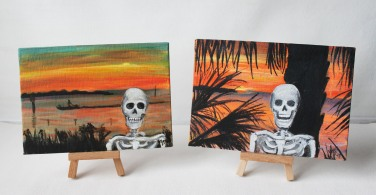 Death Out and About Canvas Boards: Bayport, FL Sunset
